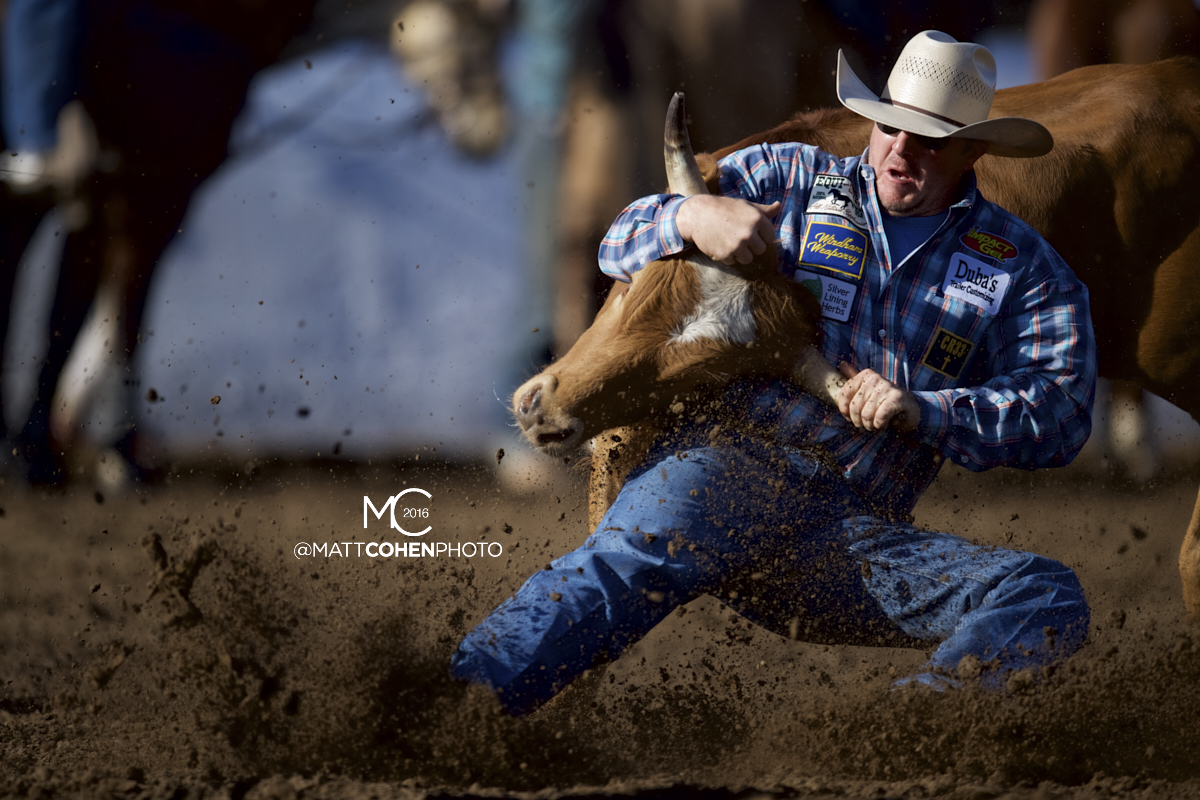 2016 WNFR: Wrangler National Finals Rodeo Qualifiers: Steer Wrestling #9 Nick Guy