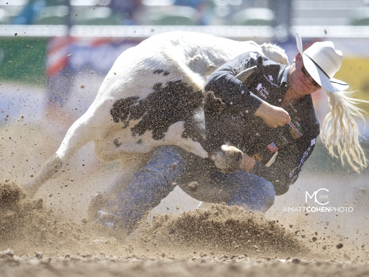 2016 WNFR: Wrangler National Finals Rodeo Qualifiers: Steer Wrestling #6 Dakota Eldridge