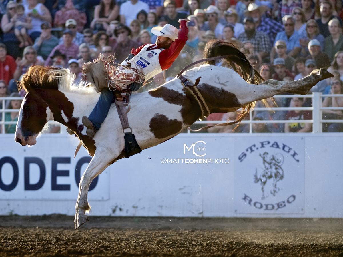 2016 WNFR: Wrangler National Finals Rodeo Qualifiers: Bareback #6 Winn Ratliff