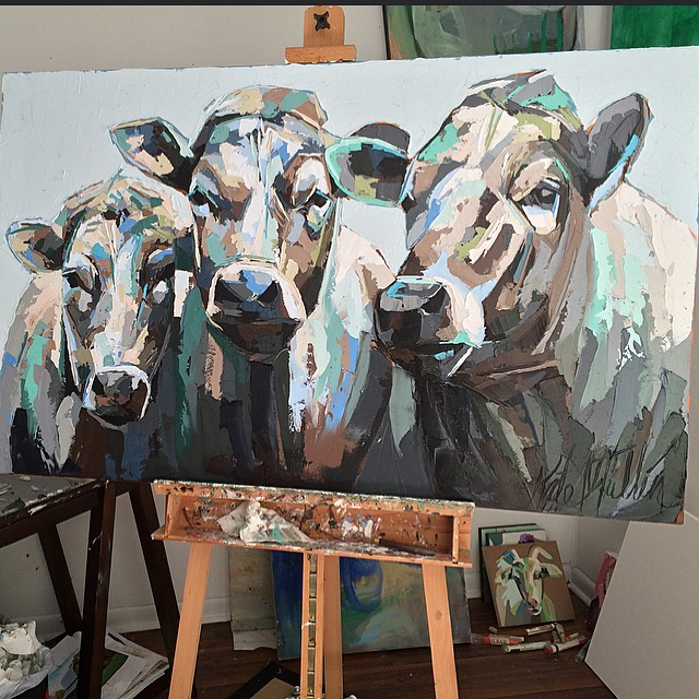 Kate Mullin Williford Cow Paintings