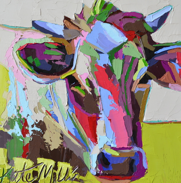 Kate Mullin Williford Cow Painting Oil