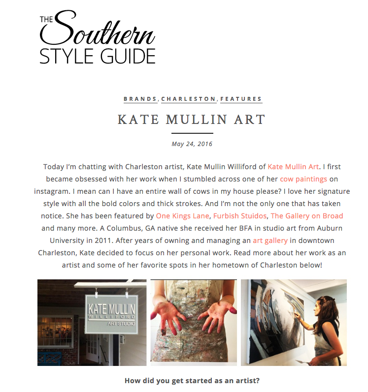 Kate Mullin Featured on The Southern Style Guide