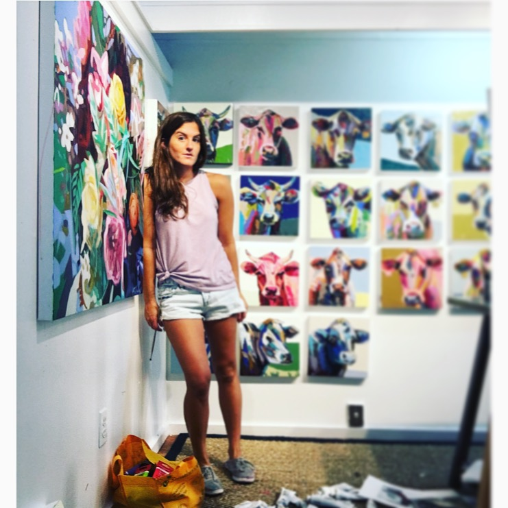 Photo of Kate Mullin Williford in her studio