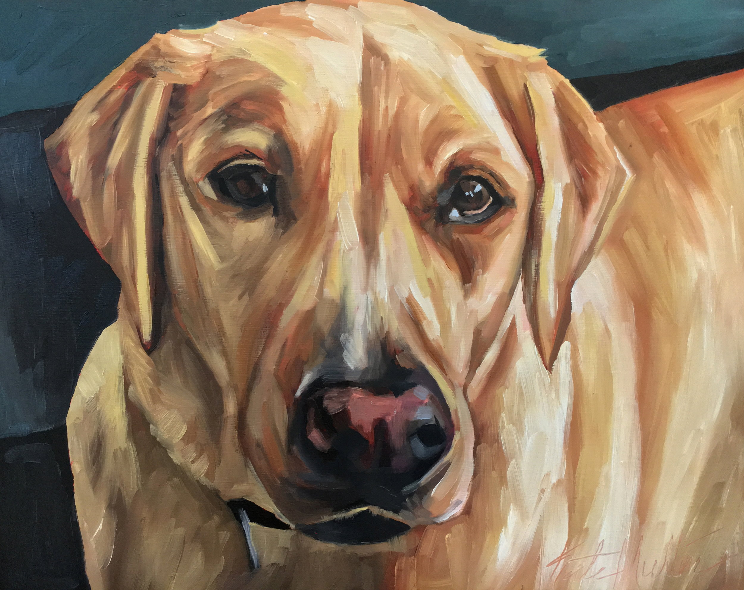Dog painting by Kate Mullin