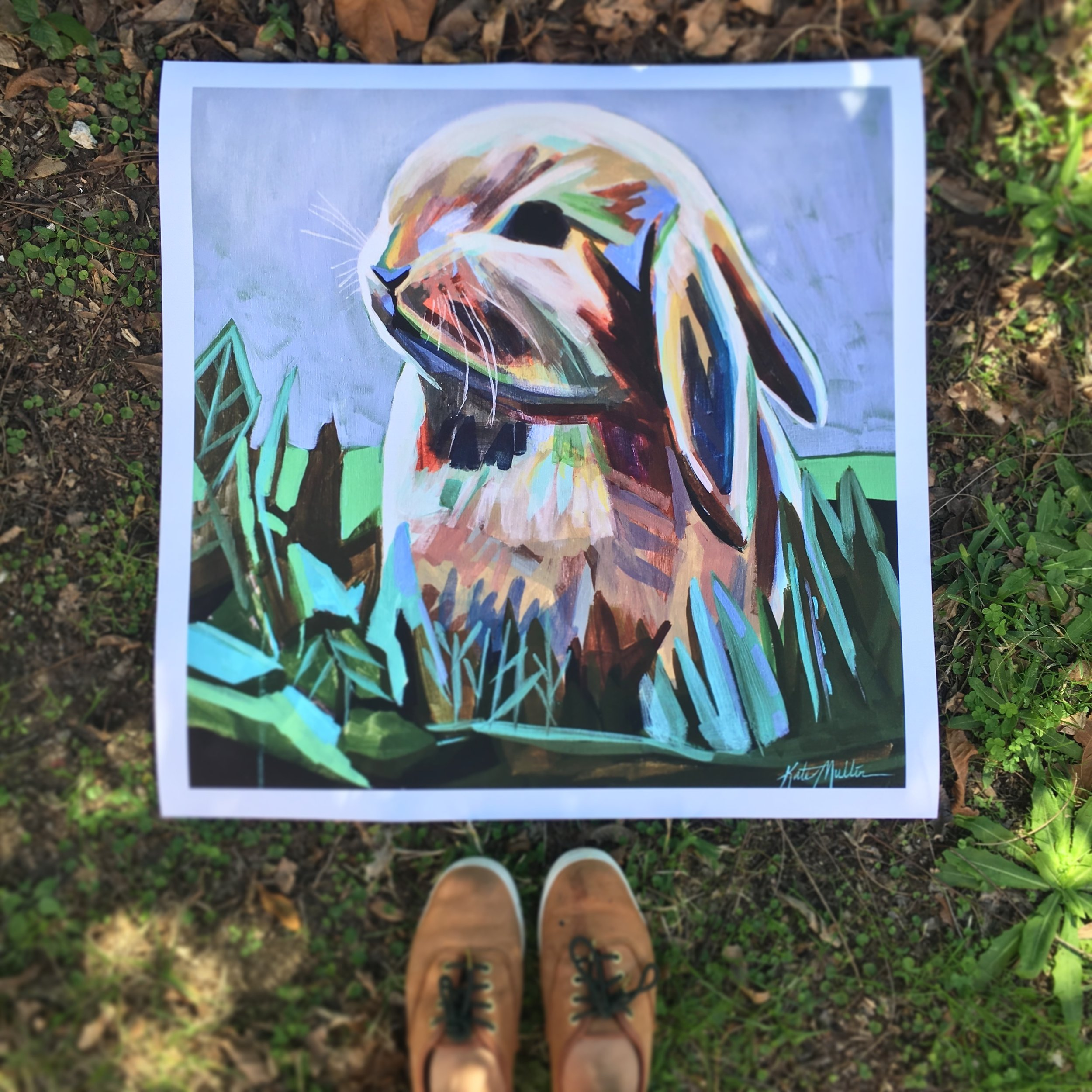 Bunny Painting by Kate Mullin