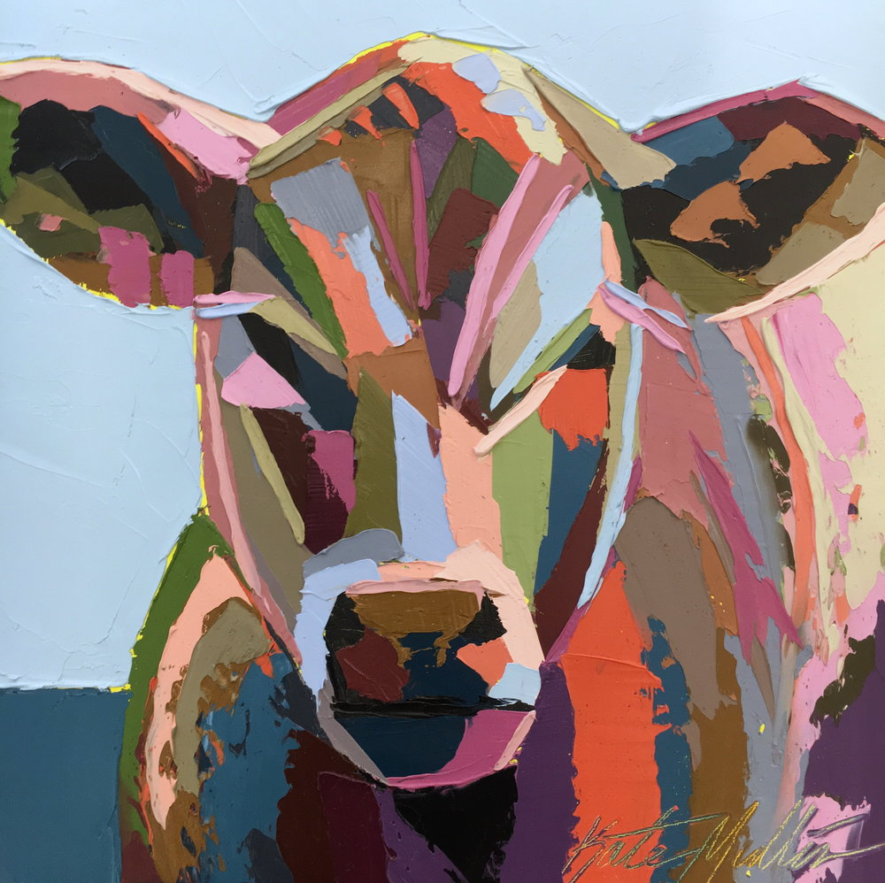 Kate Mullin Williford Cow Painting
