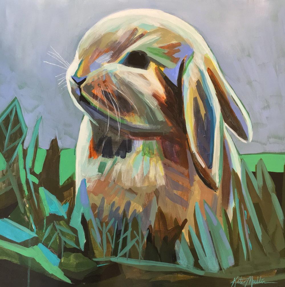 Kate Mullin Williford Bunny Painting