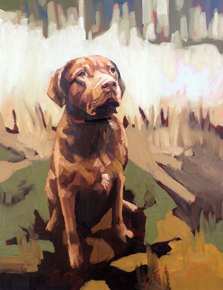 Kate Mullin Williford Dog Painting