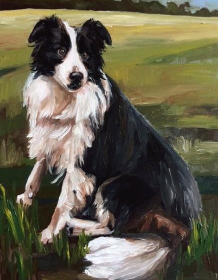 Kate Mullin Art Dog Painting