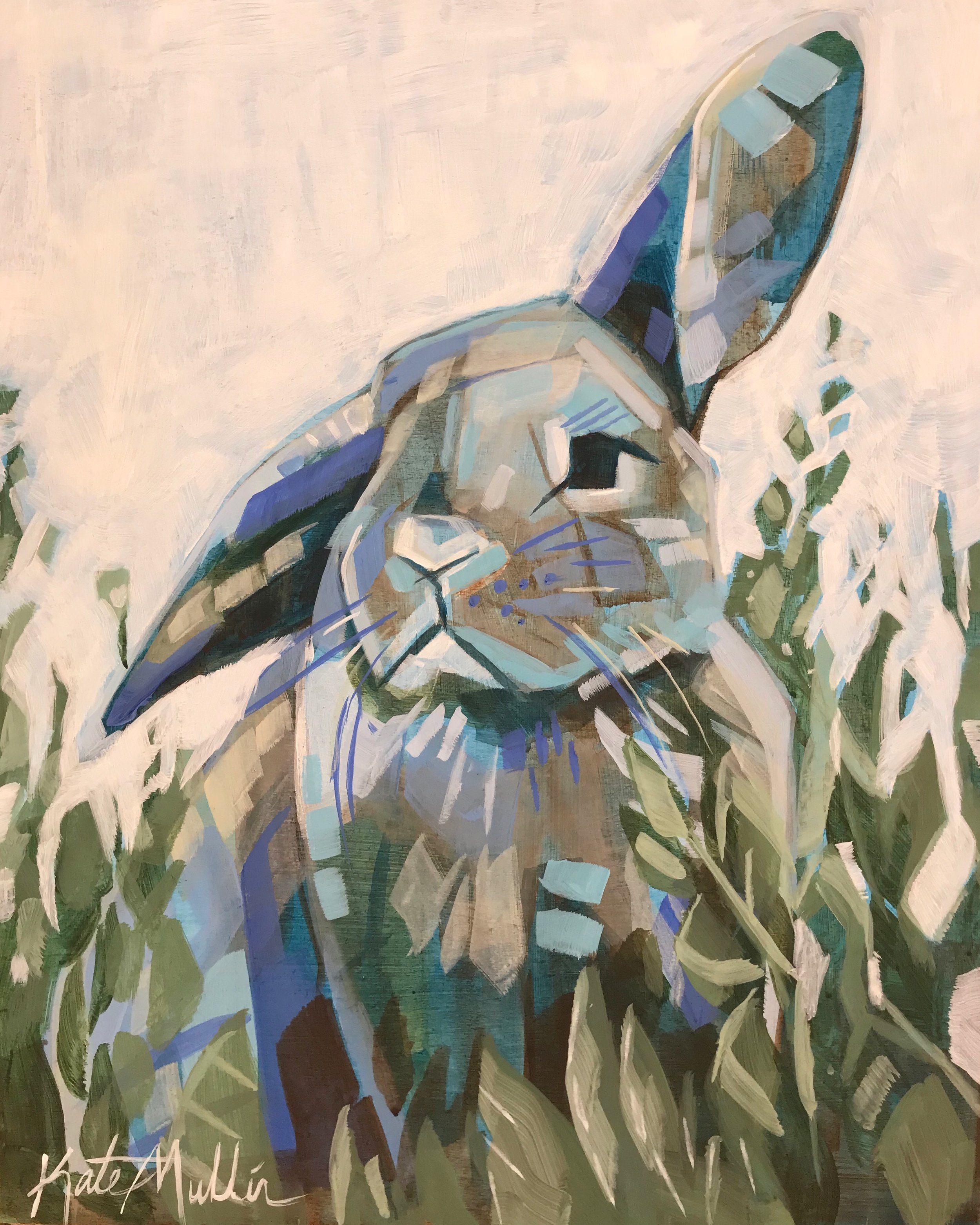 Bunny Painting by Kate Mullin Williford