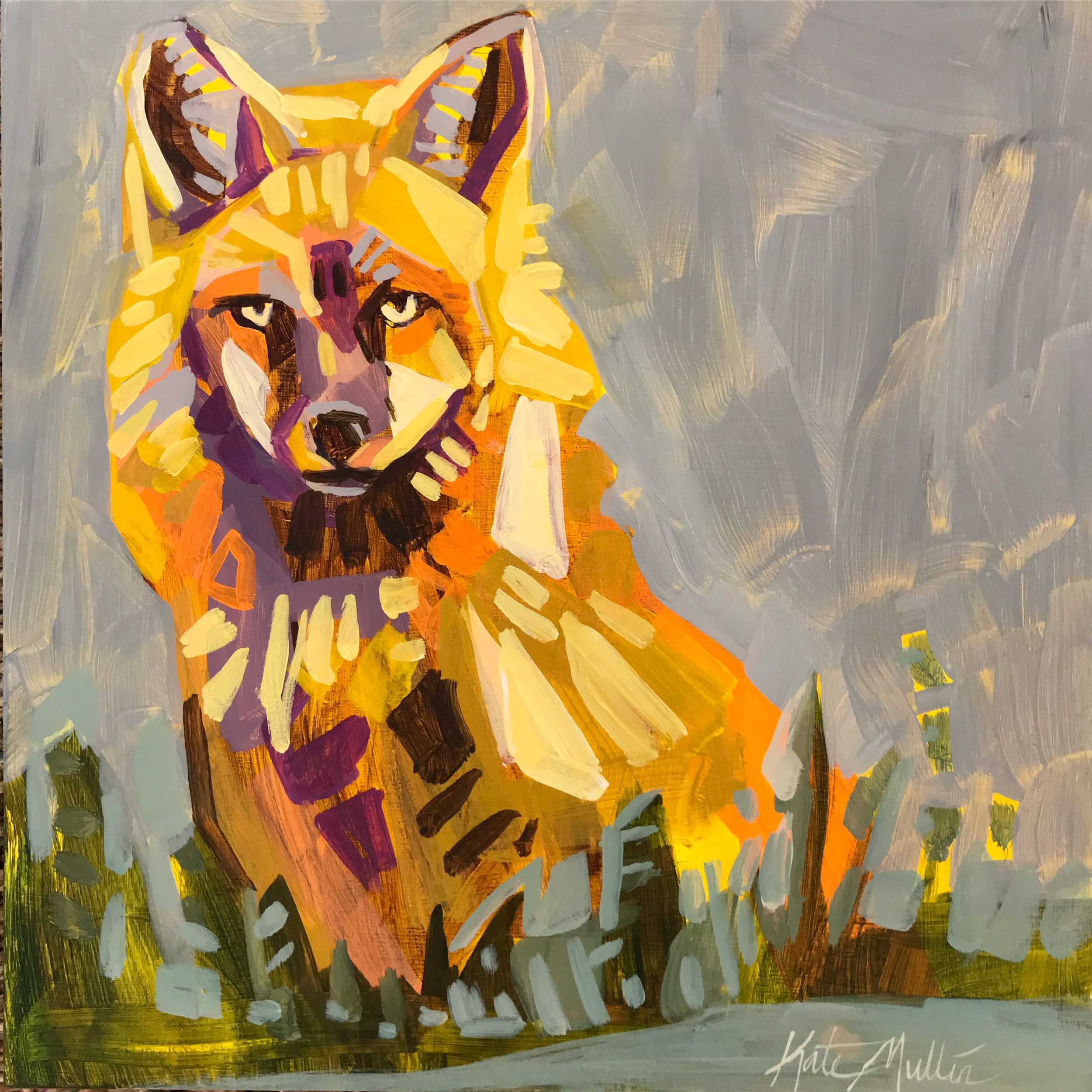 Kate Mullin Williford Fox Painting