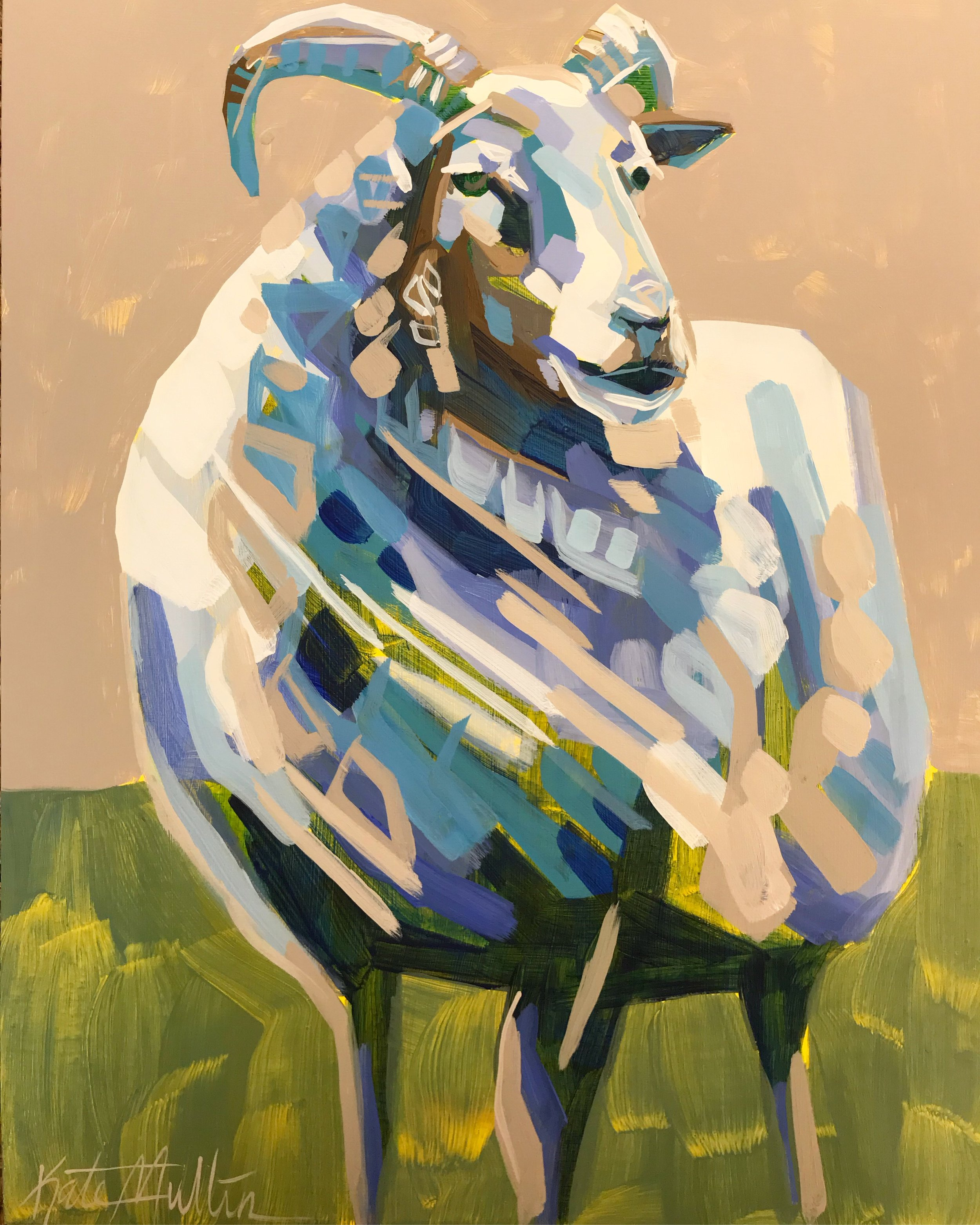 Kate Mullin Williford Sheep Painting