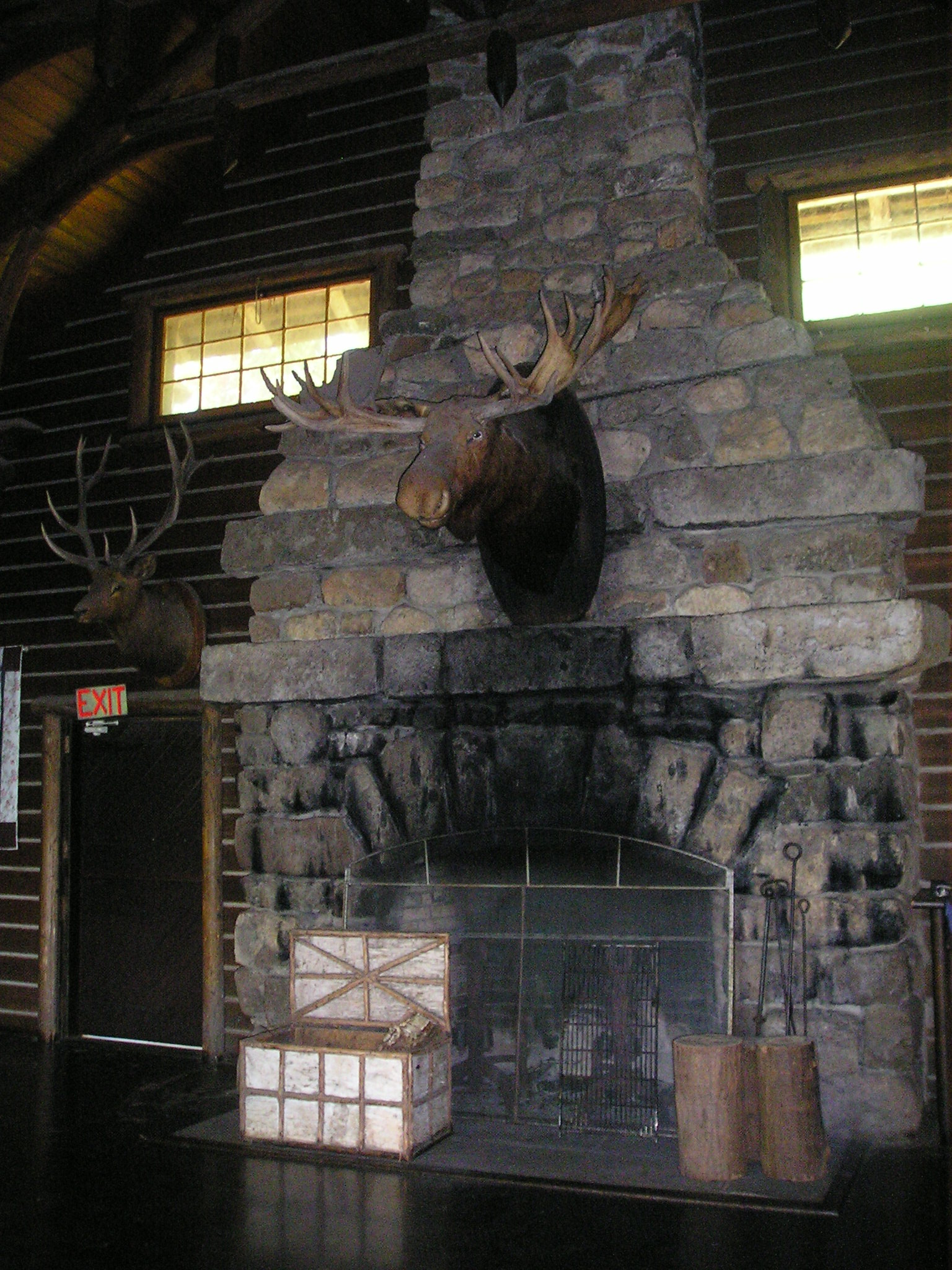 Adam (moose) oversees the Eagle Island lodge.jpg
