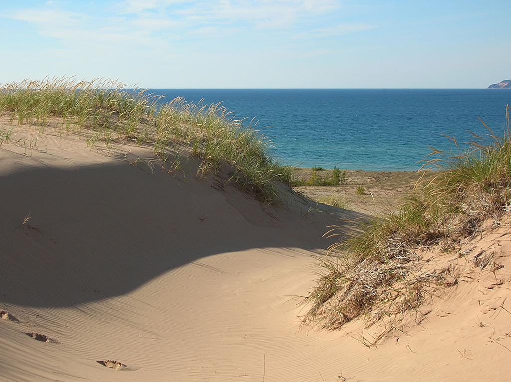 Lake Michigan from Sleeping Bear Trail. Pic by  Kerry Kelly