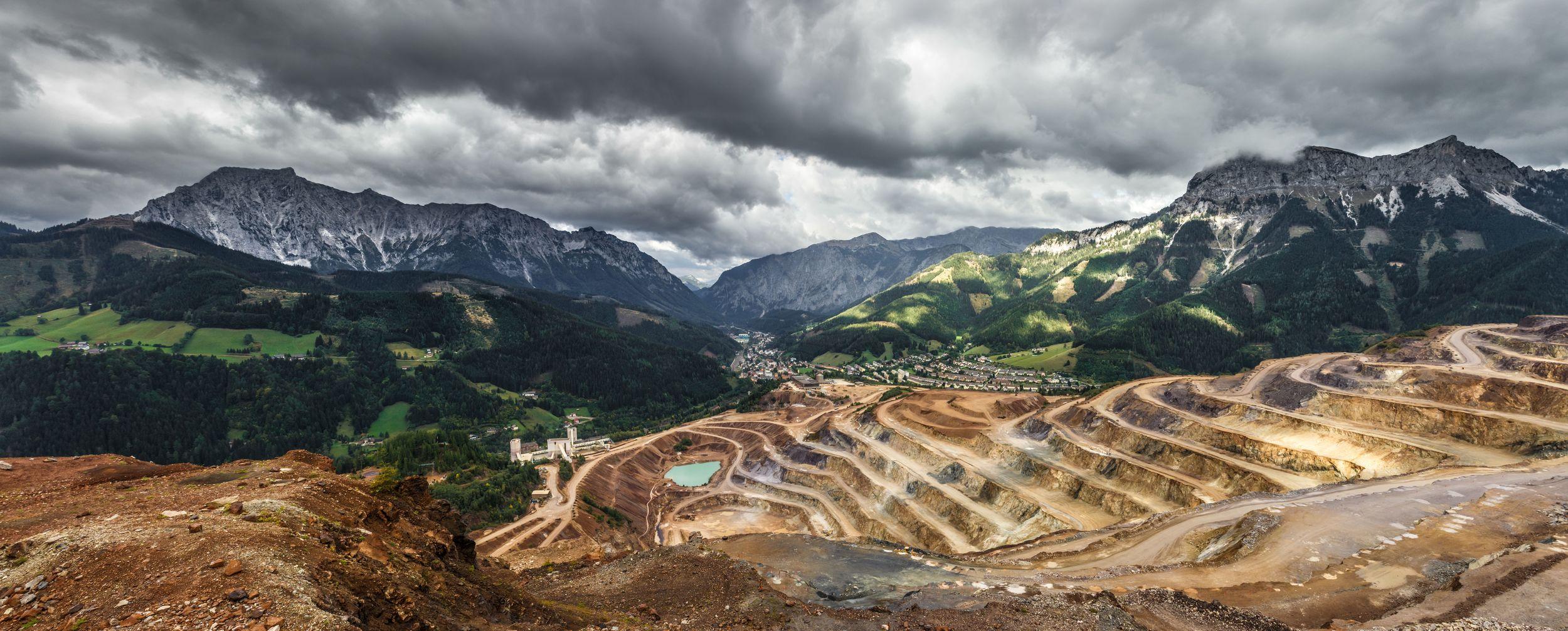 Mine site in the Austrian Alps. Photo by  Sebastien Pichler .