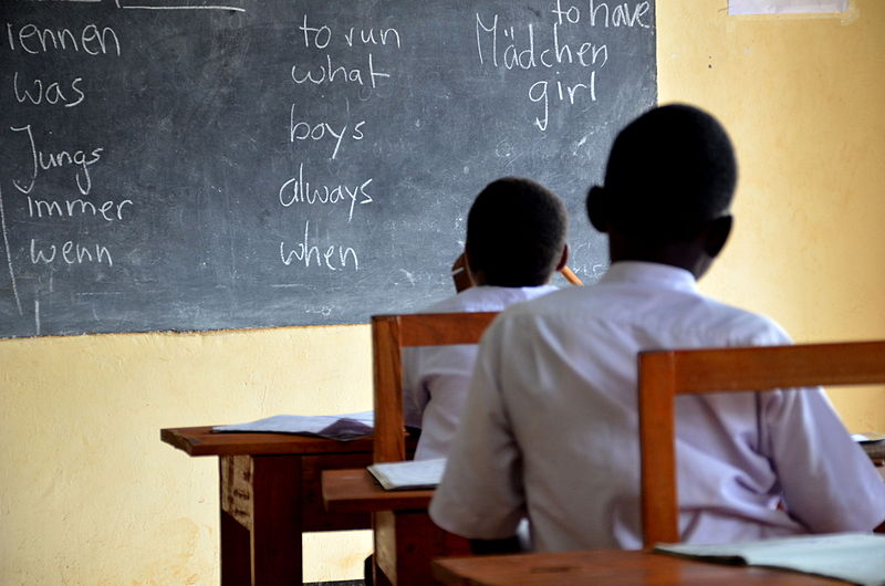 Tanzanian students in class. Photo by  Seemannaufland
