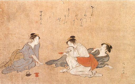 """Three Drunken Women"" by  Torii Kinonaga  via Wiki Commons."