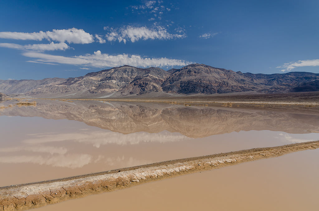 Death Valley Exit in Flash Flood. Photo by  Tuxyso.