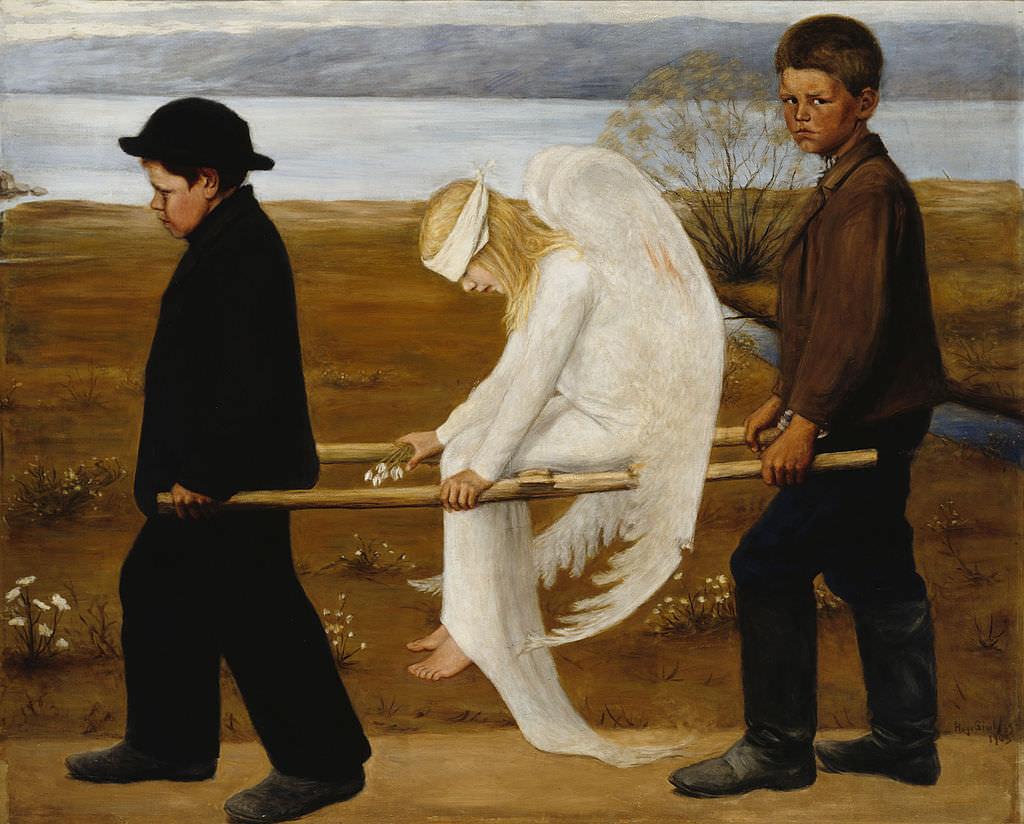 The Wounded Angel, by Hugo Simberg. Courtesy  Helsinki Museum .