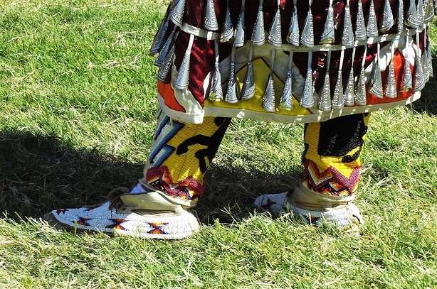 'It was harmonious'. Pic of Native American dancer's beadwork and bells by  cindysmixingbowl .