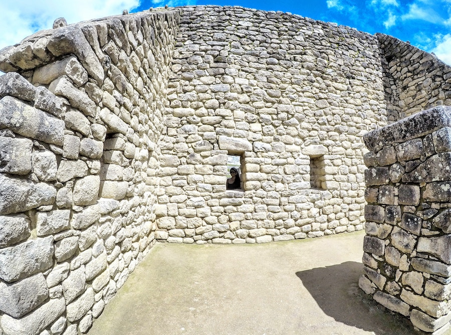 Stone walls at Machu Picchu, Peru. Photo by  Martin Espinoza .