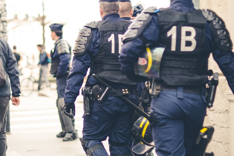 'Peace-keeping force.' Photo from France by  ev.