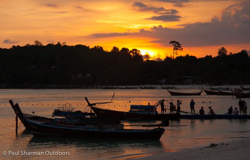 Sunset on Pattaya beach