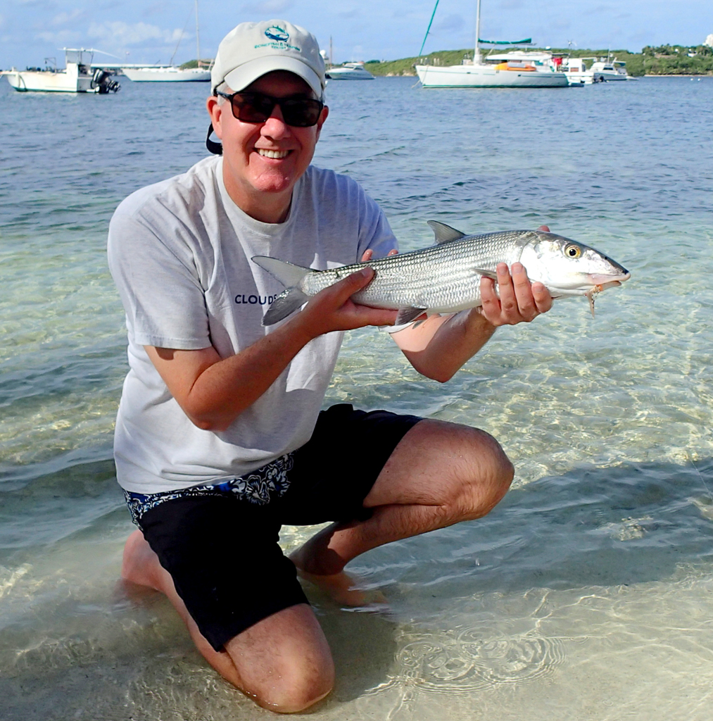 A hard-won bonefish on assignment on the beautiful Caribbean island of Saint Martin.