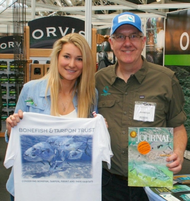 Marina Gibson is a popular up-and-coming Orvis-endorsed fly fishing guide in the UK with a large and growing social media following who loves all sorts of fishing and getting new anglers of all ages into the sport. She is now a brand new member of the Bonefish & Tarpon Trust and will be sporting her new BTT shirt proudly on trips to Christmas Island and Belize this year. Photo courtesy of Patrick Camber.