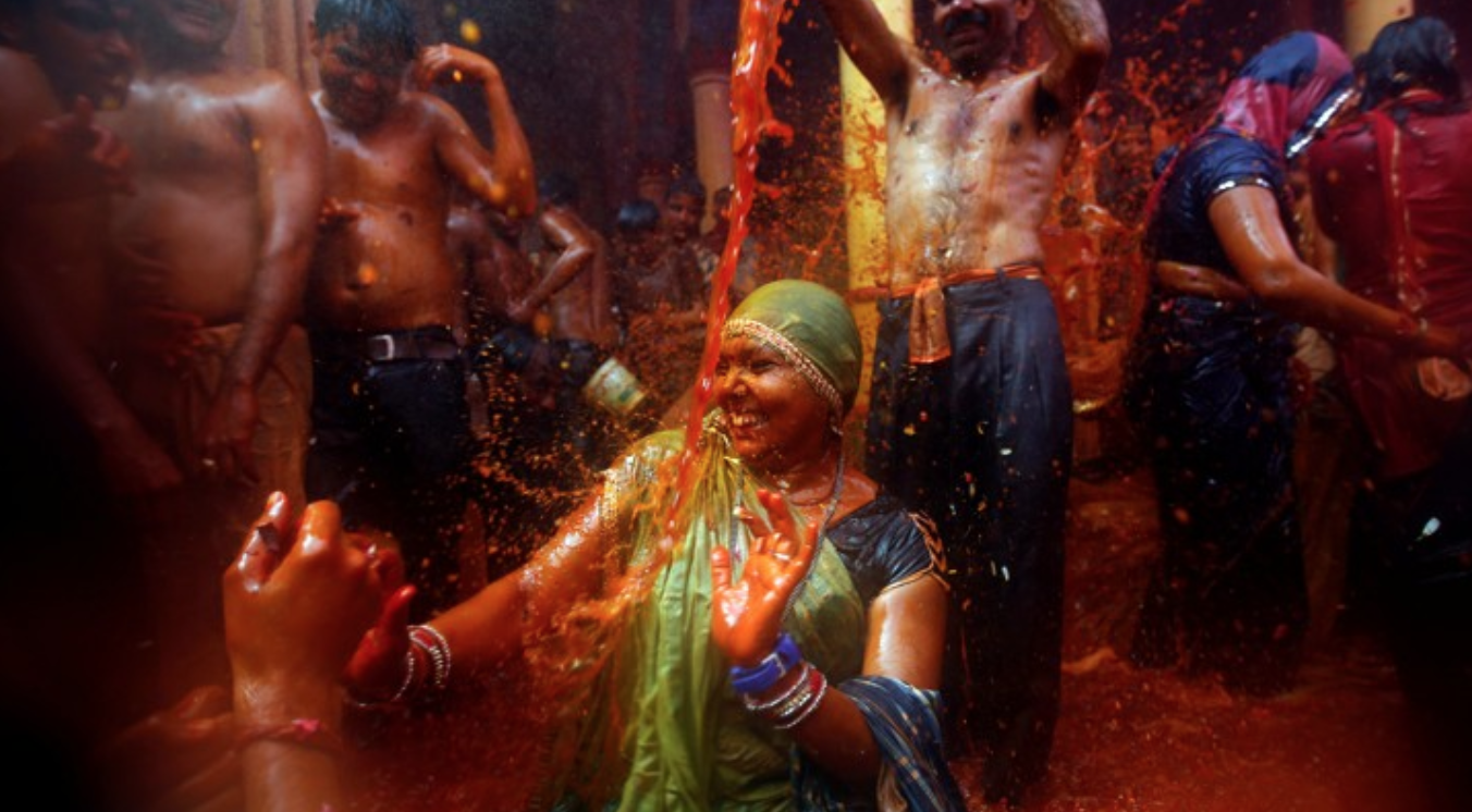The Atlantic: How Holi Got Politicized - India's festival of colors is usually a religious and cultural celebration, but this year it had a distinctly partisan hue.