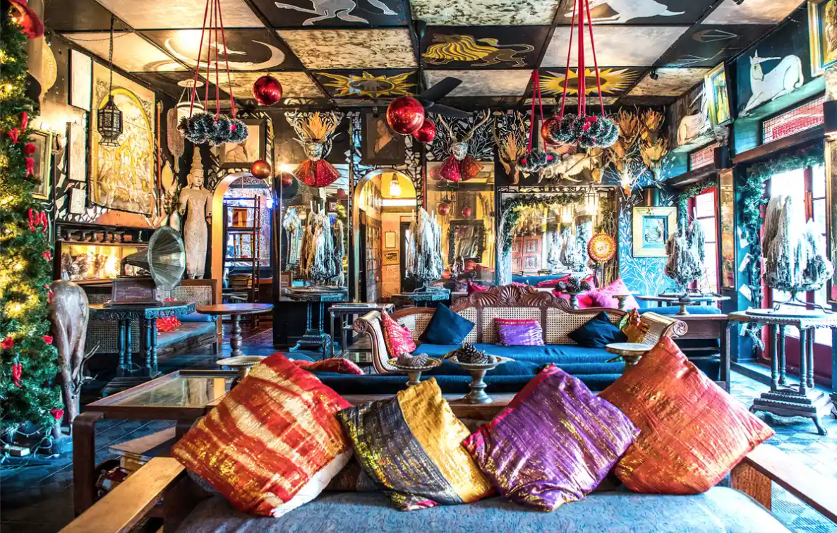 The Guardian: Six amazing places to stay for free around the world – if you volunteer - At Helga's Folly, a boutique hotel in historic Kandy, central Sri Lanka, amateur artists add to the distinctive murals – and get free bed and board via the Workaway website.