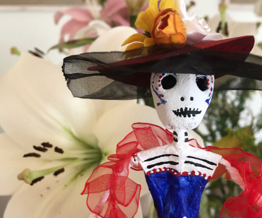 Atlas Obscura: How to Craft Your Very Own Version of Mexico's 'Dapper Queen of Death': - La Catrina is an icon of Día de Muertos and the focal point of this doll-making workshop.