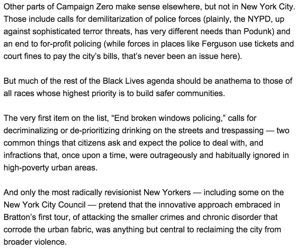 Response to NY Daily News