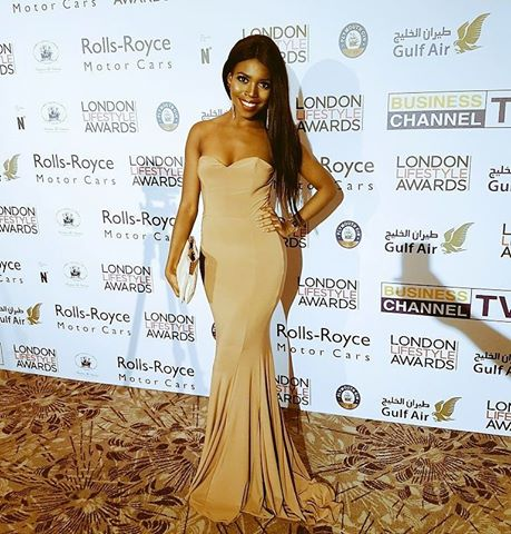Pictured at the London Lifestyle Awards wearing  House of CB.