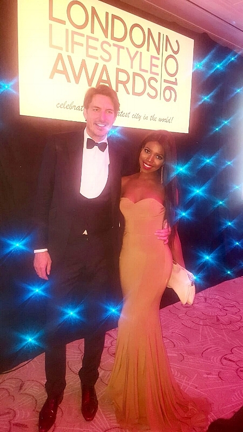 Pictured with the lovely Jason Gale - CEO of the London Lifestyle Awards