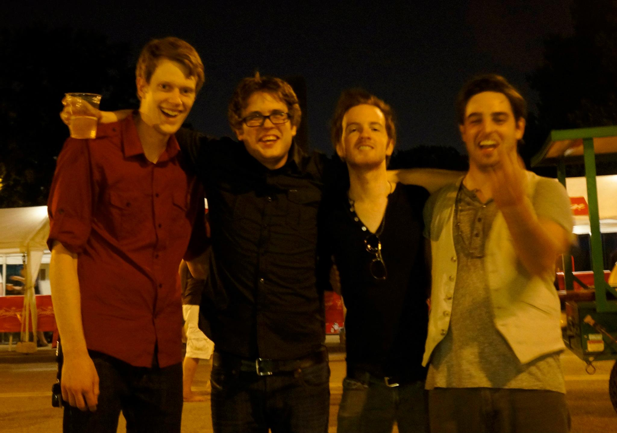 This was such a bad picture of all of us but it captures the fun we had. This was taken after we played with the Offspring in 2012.