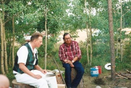 Paul Rasporich with Chief John Snow.