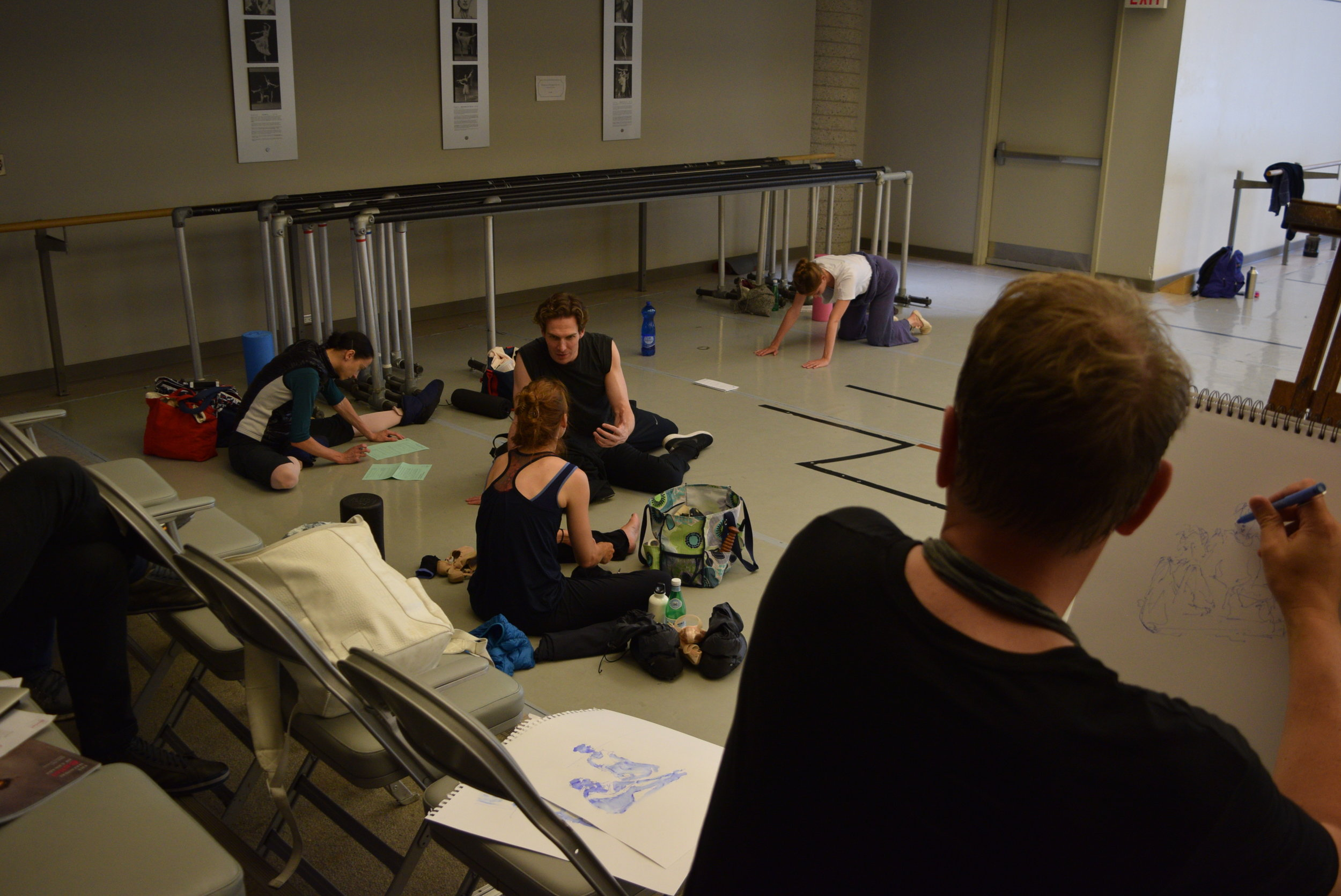 Sketching dancers during their Company Class in 2017 at the National Ballet of Canada.