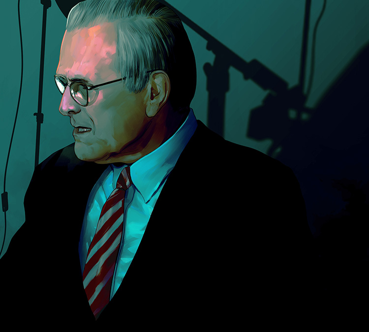 The Unknown Known - Illustration for the cinema review of Errol Morris's documentary.