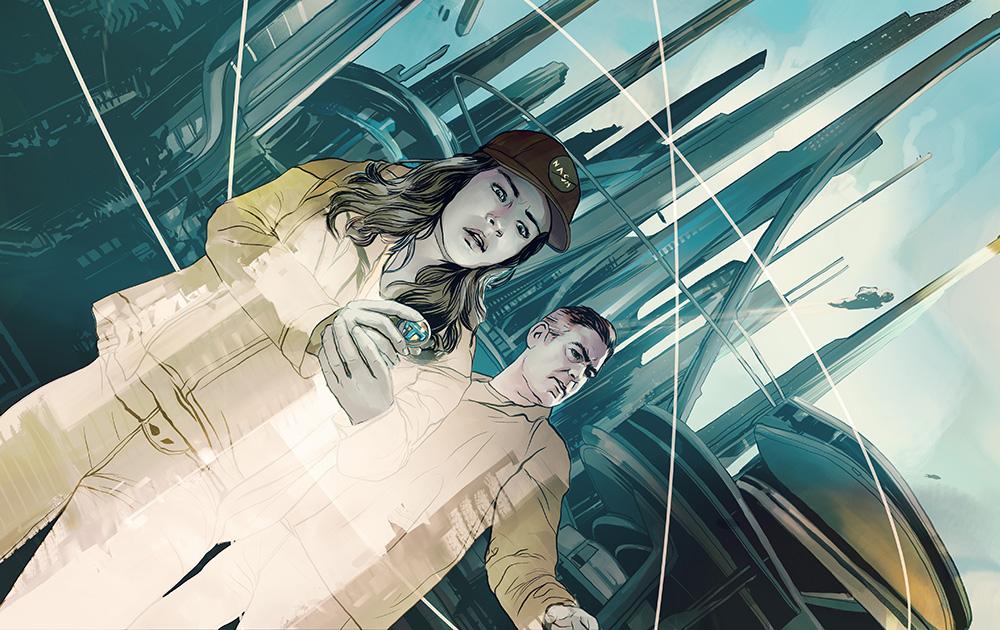 "Tomorrowland- Illustration for the cinema review of Brad Bird's""Tomorrowland."""