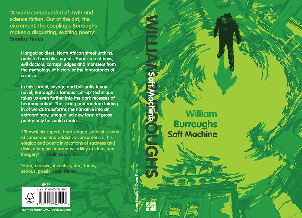 Soft Machine  - Cover illustration for the novel by William Burroughs.