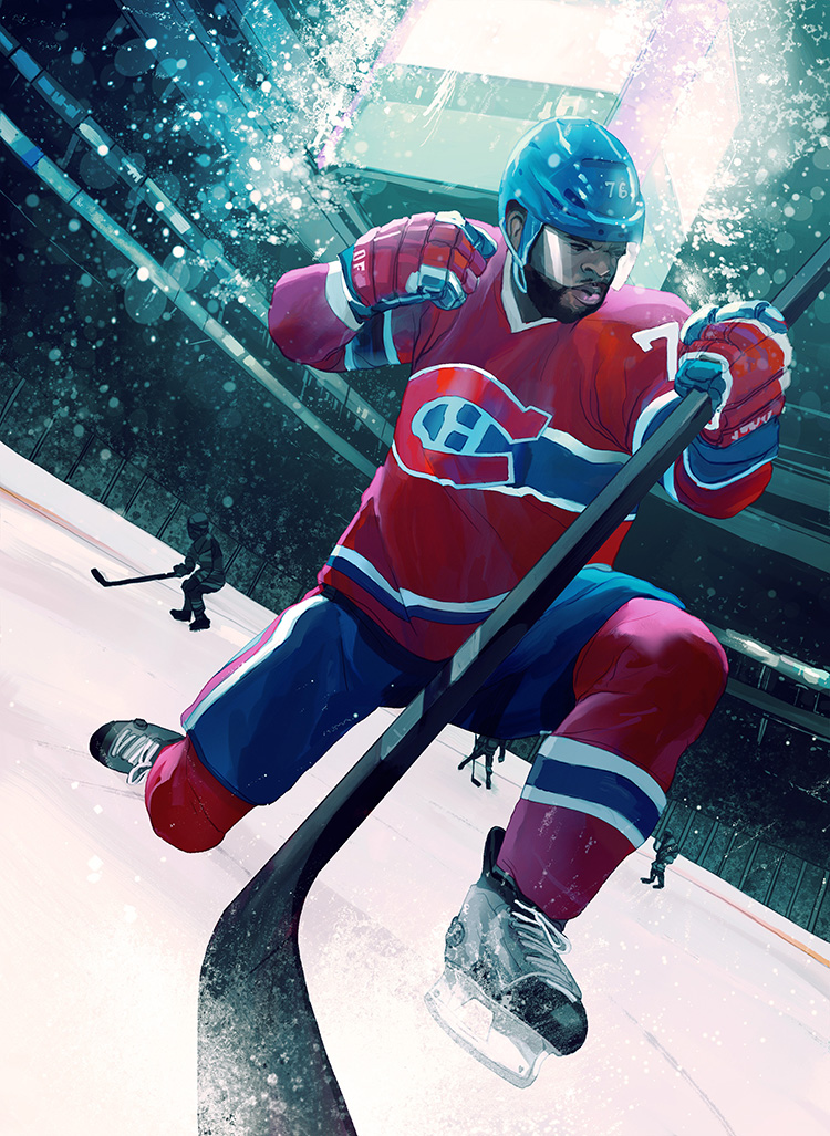 P. K. Subban-Illustration for a feature on Canadian hockey starP. K. Subban.