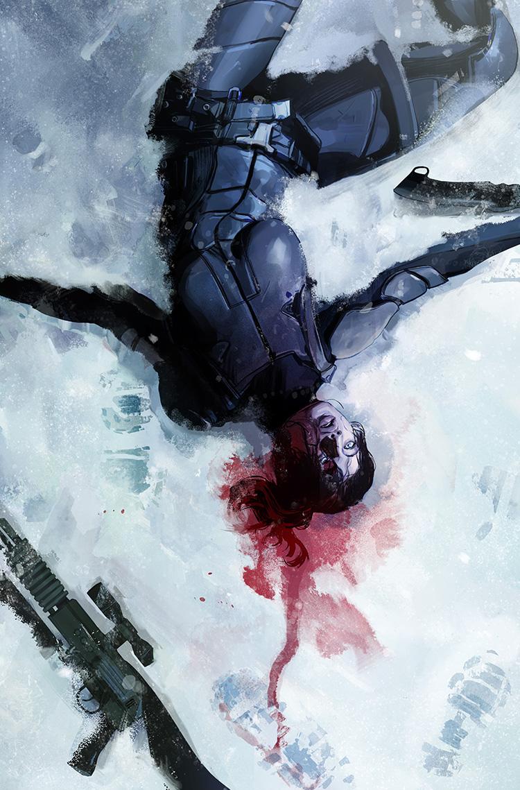 Lazarus #19 cover illustration for Image Comics.