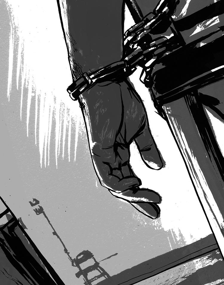 Torture-Letters page illustration on torture debate.