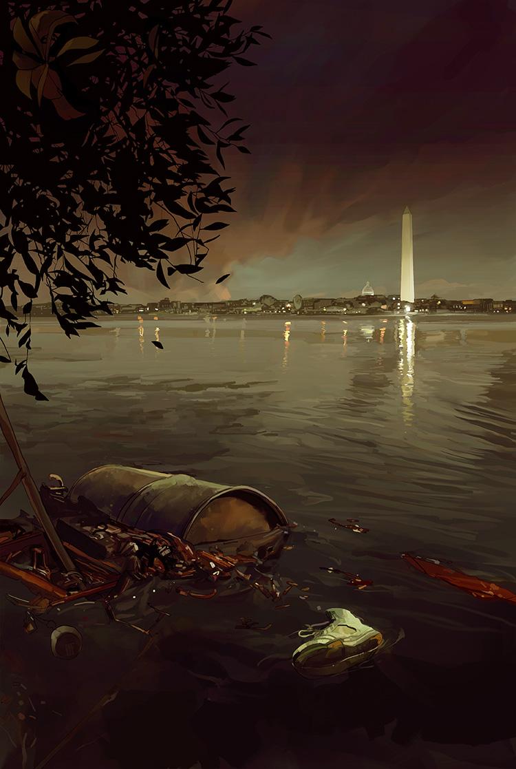 Murder, D.C.  -Cover illustration for the novel by Neely Tucker.