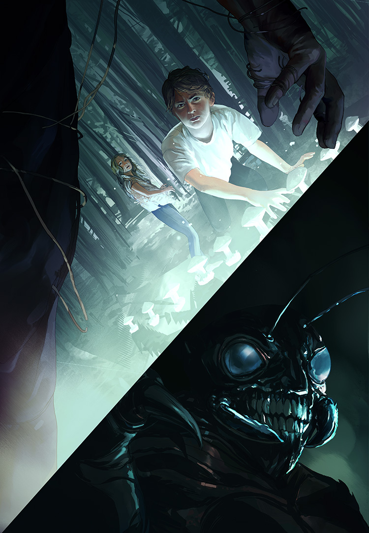The Vault of Shadows (Nightsiders Book 2) -Cover illustration for the book by Jonathan Maberry.