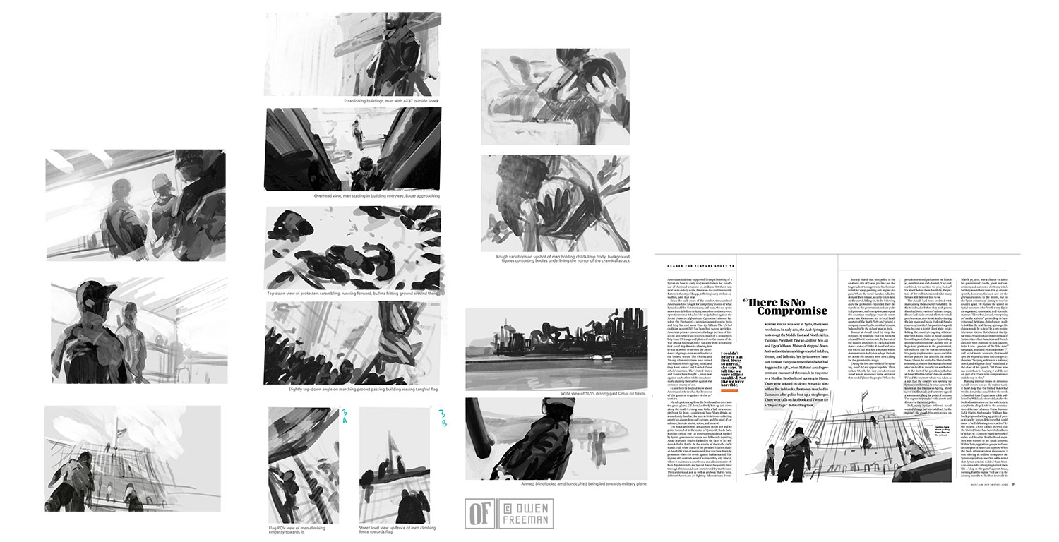 Thumbnail sketch and layout development