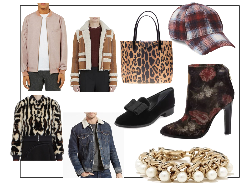 Outerwear and accessories are great places to add a trendy piece into your daily wardrobe.