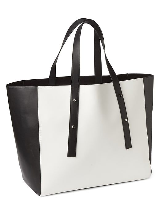 Gap Faux Leather Tote $49