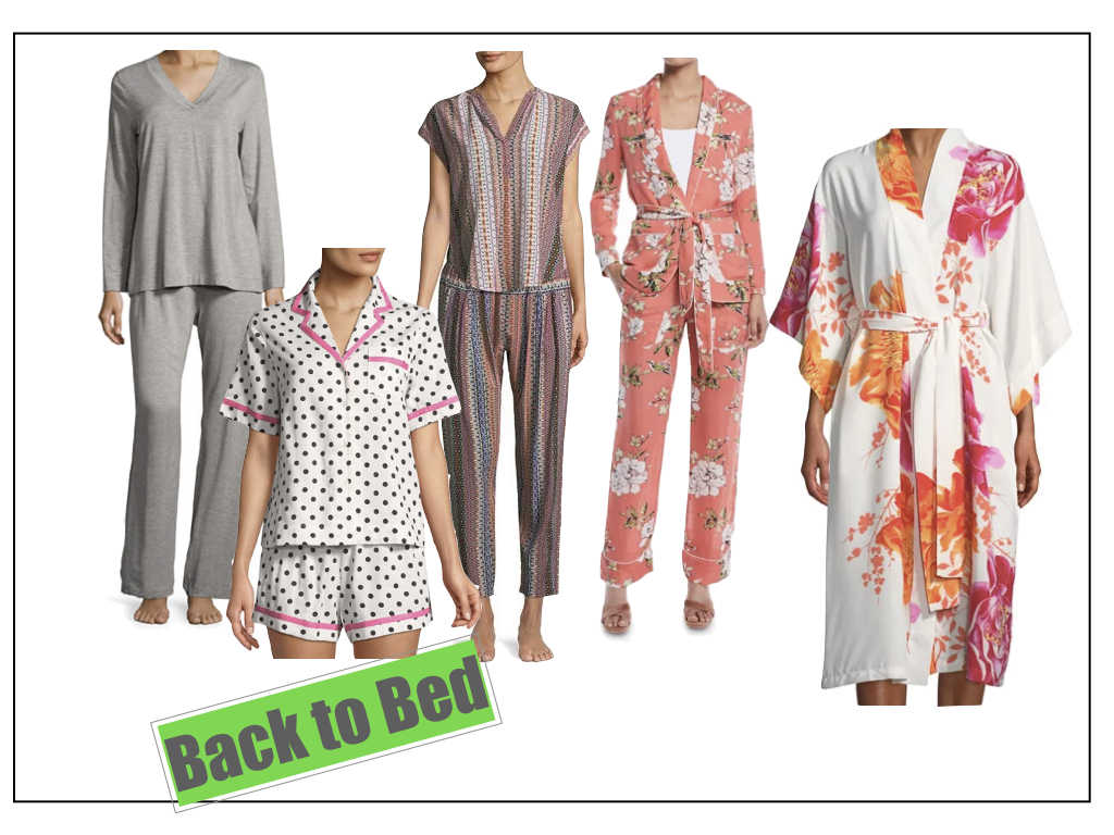 Wear a pretty  pajama set  to lounge around for the day.